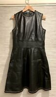 BALENCIAGA Sleeveless Knee Length High-Waist A-Line Dress Black 42 (US 6)