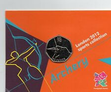 Londres 2012 Royal Mint olímpico tiro con arco 50p moneda universal