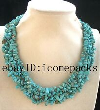 """4rows howlite turquoise baroque handcraft necklace 18"""" nature wholesale nature"""