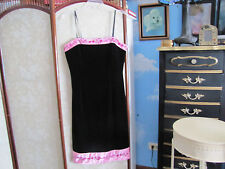 PAPELL BOUTIQUE pink black evening  dress 10