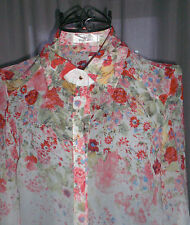 Top  Bluse Hemd  Blume New  Fashion Style gr.S