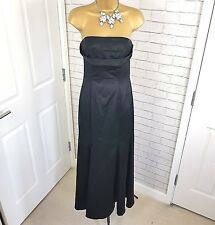COAST Dress Maxi Strapless Black Size UK 10 Evening Special Occasion