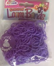 NEW LATEX FREE SCENTED PURPLE (GRAPE )Loom Bands,Clip PARTY BAG FILLERS