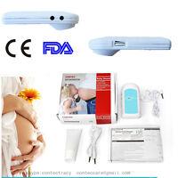 CONTEC Baby Fetal Doppler BabySound Herzmonitor Herzschlag, pink, Gel, Kopfhörer