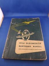 1954 OLDSMOBILE MAINTENANCE MANUAL CAR TRUCK SERVICE REPAIR