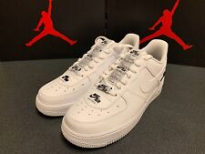 Nike Air Force 1 AF1 '07 White Black Double Air Low CJ1379-100 Size 8