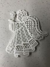 Embroidered Angel Christmas Ornament Hand Made On Sewing Machine