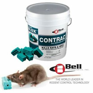 CONTRAC BLOX Rodent Poison Mouse Mice Rat Bait 1.8 kg - Bromadiolone Blocks
