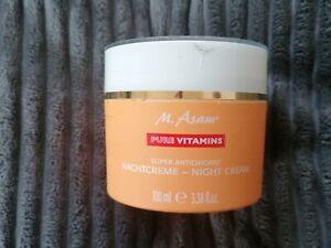 💖M. ASAM PURE VITAMINS Super Antioxidant Nachtcreme  💖 100ml 💖  XXL
