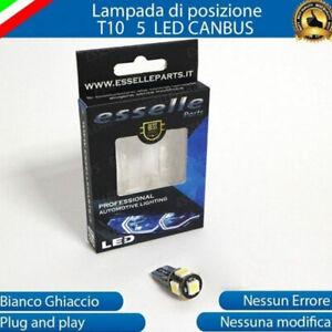 LUCE TARGA HONDA SH 300 LAMPADA CANBUS T10 W5W 5 LED 6000K LUCE BIANCO GHIACCIO