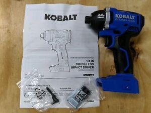 New Kobalt KIP 324B-03 24V Max Brushless Li-Ion Impact Driver - Bare Tool