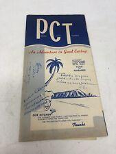Vintage Hawaii 1940s / 50s Pearl City Tavern Restaurant Menu Collectible