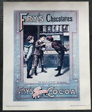 Vintage Cadbury's Print A5 Fry's Chocolate Image International
