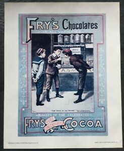 Vintage Cadbury's Poster Print A5 Fry's Chocolate Image International