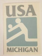 Volleyball Window Sticker USA Michigan