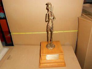 Statuette figurine africaine en bronze, ancien Paysan Art Africain