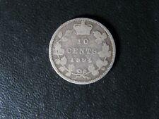 10 cents 1894 Obv. 5 Canada small silver coin Queen Victoria c ¢ dime G-6