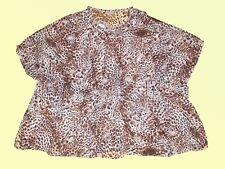 alla Moda Camicetta da donna tunica scialle TG- 46/48 Disegno Leopardato NUOVO