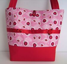 LUCKY LADY BUG LADYBUGS HANDBAG PURSE TOTE BAG POCKETBOOK RETRO MOD FASHION