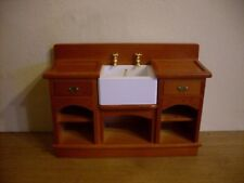 Dollshouse Miniatura ~ Arts & Crafts Stile ~ lavello da cucina