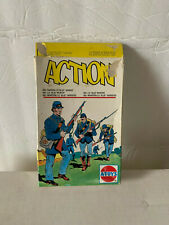 A-Toys 1863 U.S. Blue Infantry Soldiers 1/72 Scale Plastic Vintage Italy