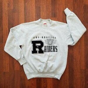 Vintage Las Vegas Los Angeles Raiders Crewneck Sweat Shirt Nutmeg Mill NFL Large
