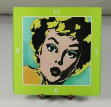 Glas Ziffernblatt - Marilyn Monroe - ca. 30x30x0,5 cm. - ca. 875 Gramm  /79