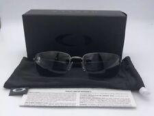 Oakley Men's Polarized Square Wire OO4075-04 Carbon Gunmetal Sunglasses