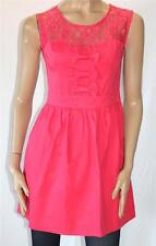 TEMT Brand Pink Lace Front Fitted Sleeveless Day Dress Size 8 BNWT [se118]