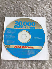 Data Becker 30,000 Business Cards Pc Software Windows, Excellent