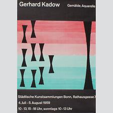Gerhard Kadow. Gemälde, Aquarelle. Ausstellungsplakat Bonn 1959