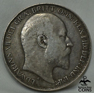 1902 United Kingdom Crown Silver Coin KM#803 Edward VII BEAUTIFULLY DETAILED!