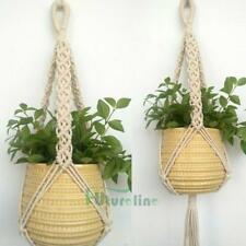 Vintage Macrame Plant Hanger Garden Flower Pot Holder Original Hanging Rope Bask