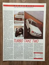 Ford Escort Rs Turbo 1986 - Contemporary Road Test Article