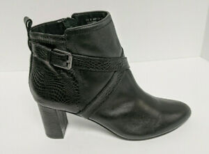 David Tate Inspire Ankle Booties, Black Leather, Women's 12 M