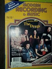 1981 APRIL MODERN RECORDING & MUSIC MAGAZINE - THE DREGS COVER  lot of 8 diff ++