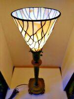 VTG Art Deco Nouveau Arts & Craft Torchiere Lamp & Shade Iconic Feet 1900-1940