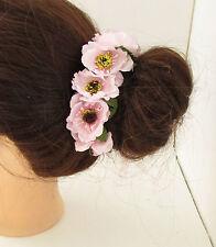 rose pâle Sauvage fleur chignon GUIRLANDE SUPPORT CONTOUR demoiselle d'honneur