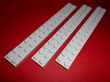 Lego (4282) 3 Platten 2x16, in hellgrau aus 10143 10179 4954 10200