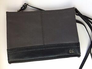 EUC THE SAK Iris Demi Convertible Clutch Crossbody Shoulder Bag Purse Leather