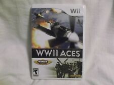WWII ACES Wii Complete CIB w/ Box, Manual Good