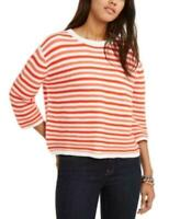 MSRP $70 Tommy Hilfiger Cotton Striped 3/4-Sleeve Sweater Size XL
