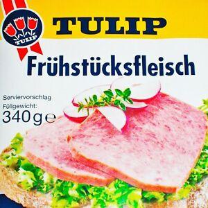 TULIP Fruehstuecksfleisch 340g Chopped Pork Office Home Camping Break