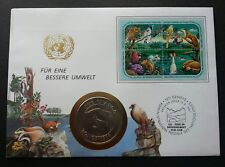 United Nation Economic Commission Europe Environment 1991 Owl Bird (coin cover)