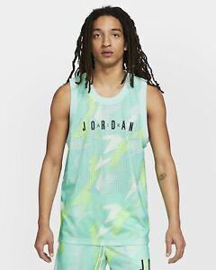 Men's Nike Jordan Jumpman Printed Jersey Tank Sunset Pulse CZ4738-675 Size L NWT
