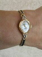 """Waltham Incabloc 17 J. Swiss Diamond Accents MECHANICAL Watch WORKS 6 3/4"""" Wrist"""