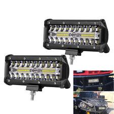 Paar Alu 120W Weiß LED Zusatzscheinwerfer Hochleistung Fernlicht IP67 ATV Quad