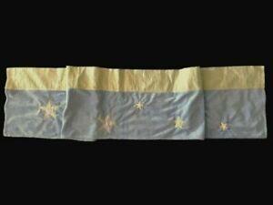 Pre-own 2 available BABY BOY VALANCE blue stars nursery curtains decor 7ft each