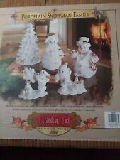 Grandeur Noel Porcelain Snowman Family 5pc Set 2000 In original box excellent