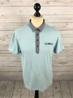 TED BAKER Polo Shirt - Size 4 Large - Blue - Great Condition - Men's